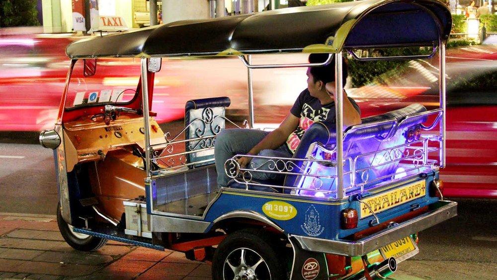 Tuk Tuk in Bangkok Street