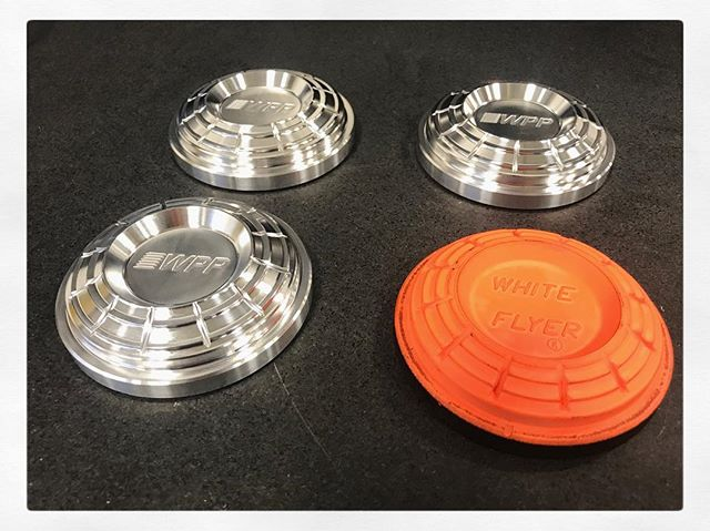 Aluminum Clay target replicas machined on our DMU 65 monoBLOCK 5 axis mill 💪