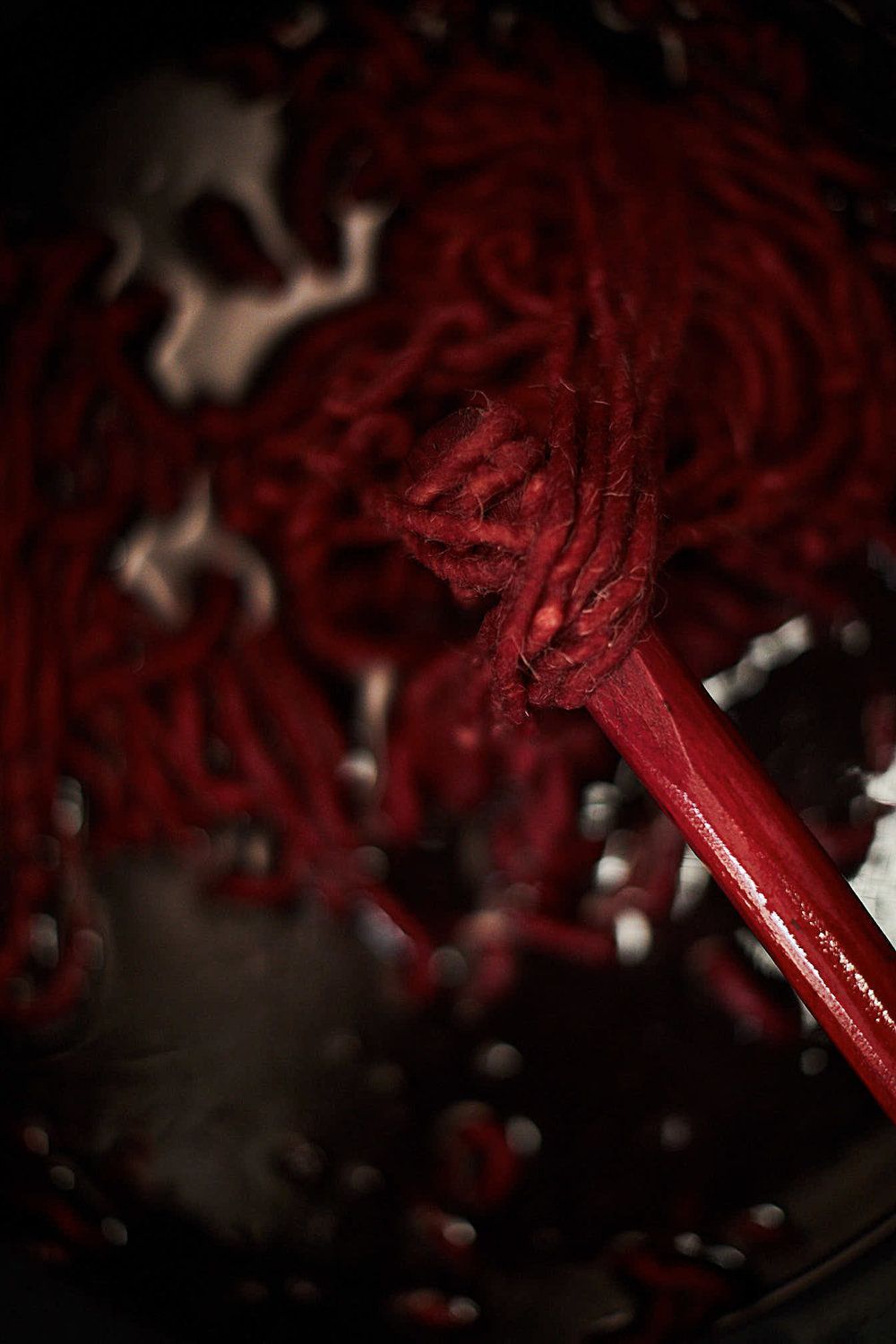 Madda Studio Cochineal Dye being used in the natural dye process in Mexico