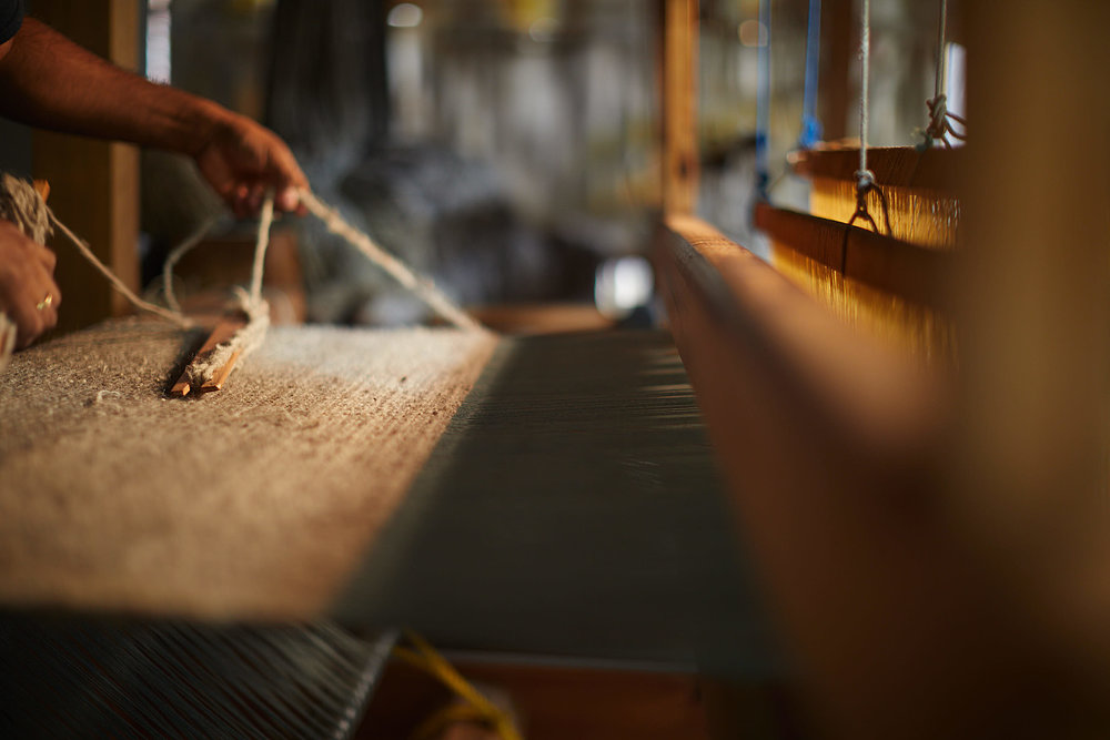 Madda Studio Loom for Handwoven Wool Rugs in MExico