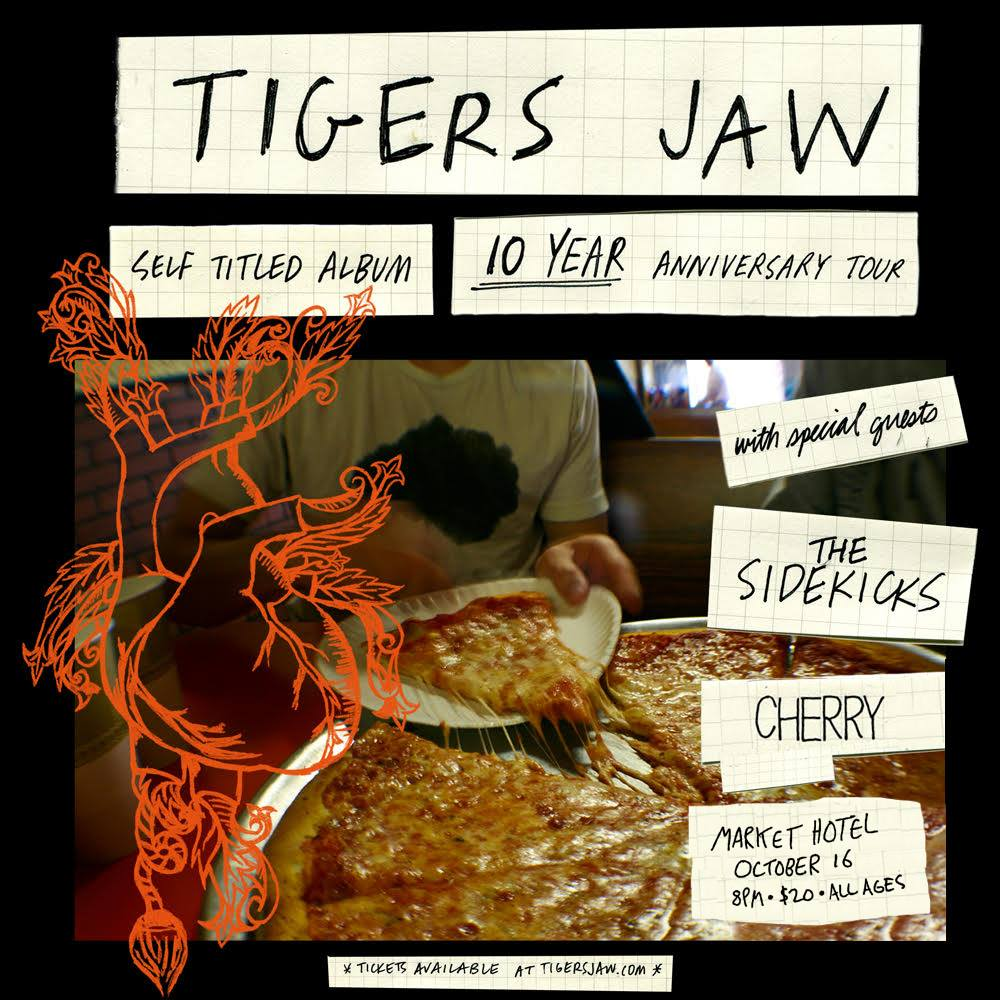 AdHoc  Presents   Tigers Jaw    The Sidekicks   Cherry   TIX:  https://ticketf.ly/2Iqd782   | Market Hotel | 1140 Myrtle Ave @ Broadway | Bushwick, Brooklyn JMZ-Myrtle Bway | $20 | all ages  Check out our calendar and sign up for our mailing list  http://adhocpresents.com/