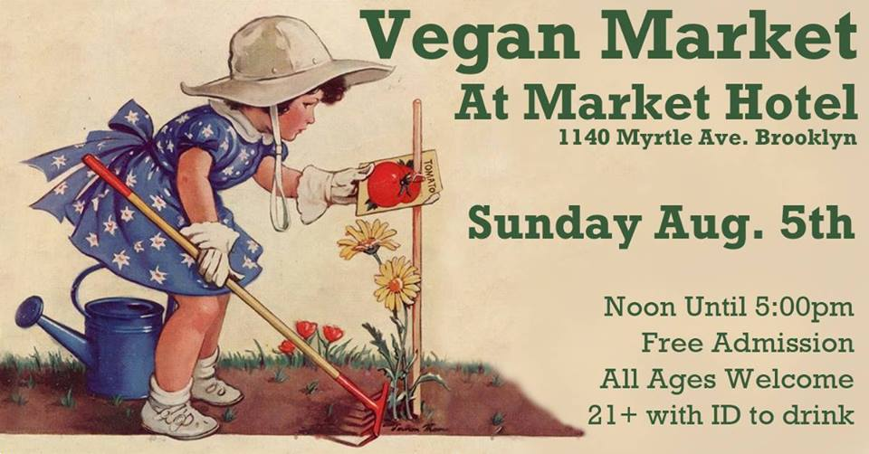 A monthly indoor pop up market with some of the areas best vegan vendors. There is plenty of food but also apparel, bath & body products, and cosmetics. All of our vendors are 100% vegan all of the time not just vegan for the day. We are an all ages event with a full bar for those over 21 so bring your ID if you want to drink. As always admission is free. Spend the day with us and have some fun, you'll be glad you did. We are right across the street from the J•M•Z Myrtle Ave. subway station.
