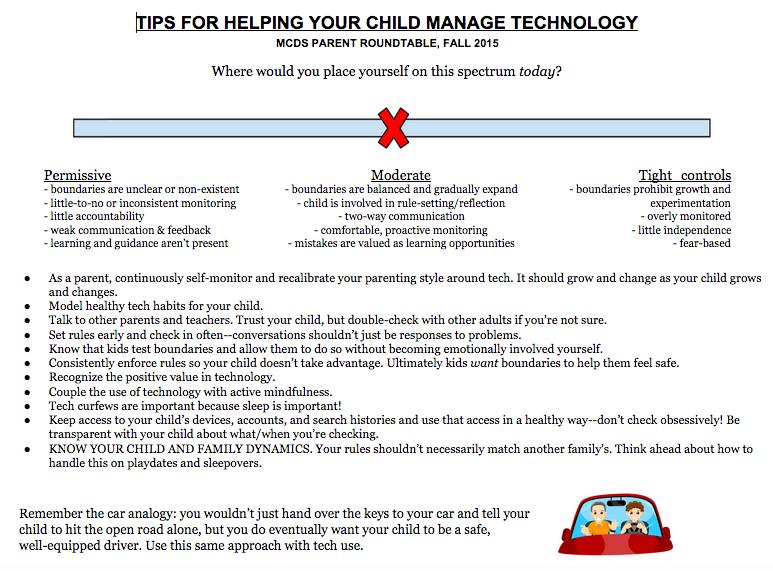 Upper School Parenting Tips