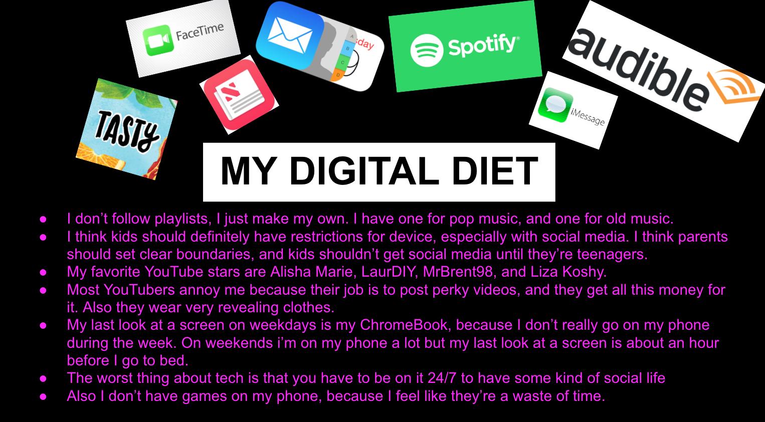 My Digital Diet 8