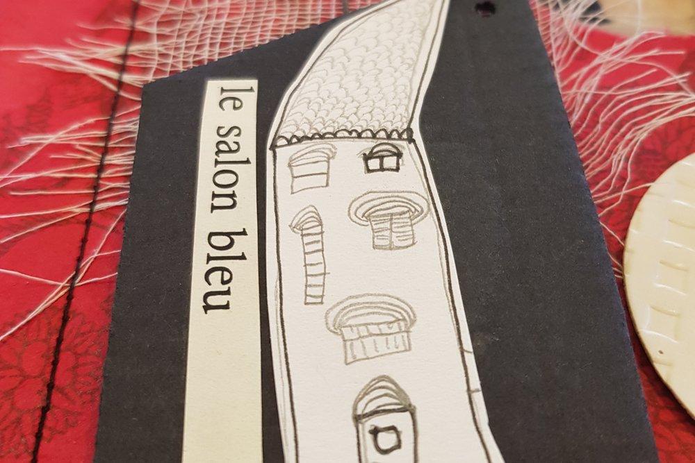Mon chez moi - Assemblage sur papier