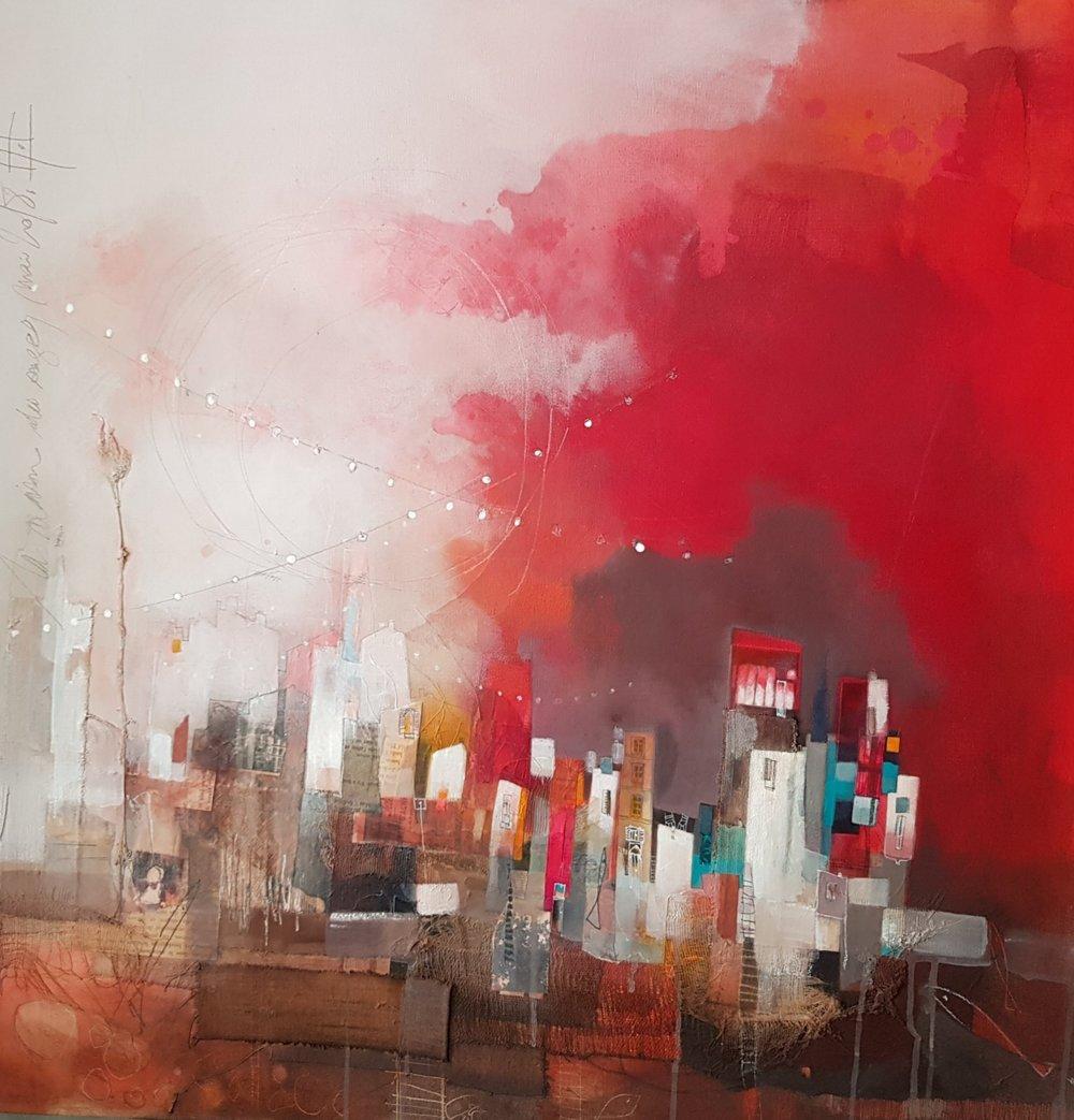 La maison des songes, 2018, 80 cm x 80 cm