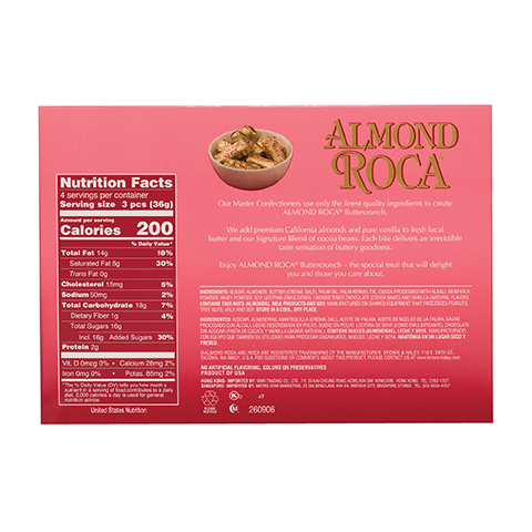 0134 5 OZ ALMOND ROCA® - Back-side View
