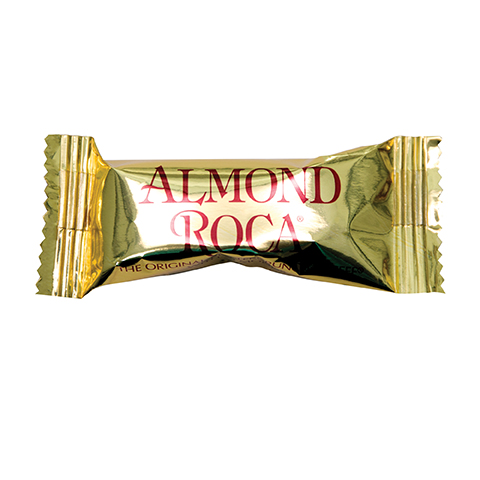 0223 1 Piece ALMOND ROCA® Gold Flow Wrap - Straight Front View