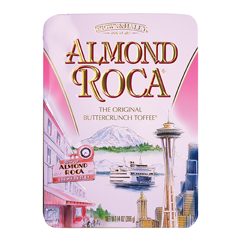 0355 14 OZ ALMOND ROCA® KEEPSAKE TIN - Straight-front Facing View