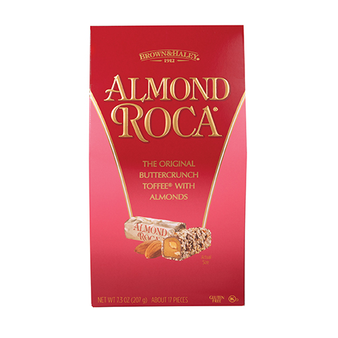 0371 7.3 OZ ALMOND ROCA® STAND-UP BOX - Straight -front View