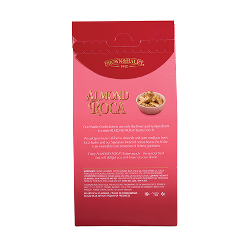 0371 7.3 OZ ALMOND ROCA® STAND-UP BOX - Back-side View