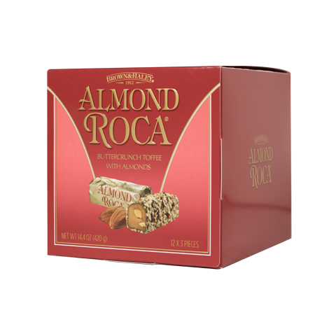 0376 14.4 OZ ALMOND ROCA® CUBE - Left-facing View