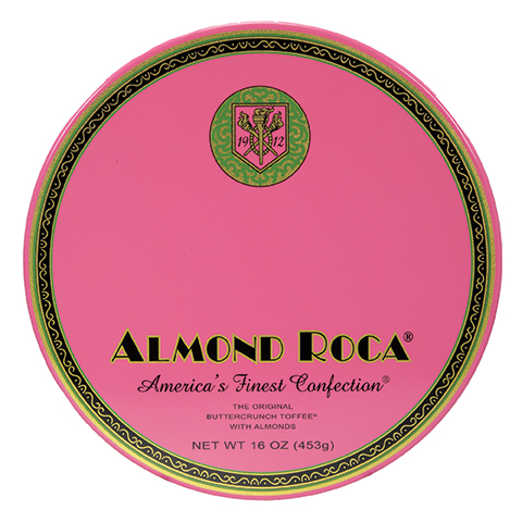 0386 16 OZ ALMOND ROCA® NOSTALGIA TIN - Straight-front View