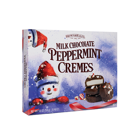 5856 5.6 oz Milk Chocolate PEPPERMINT CREMES - Right-facing View