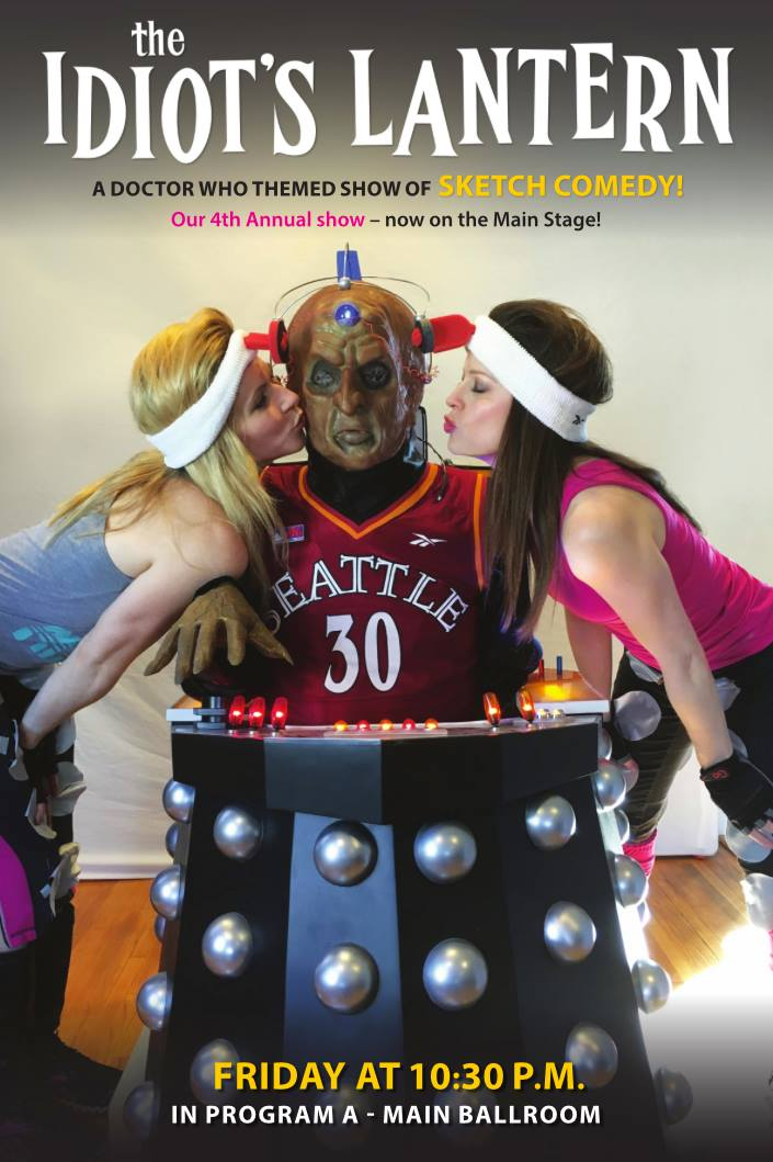 Idiot's Lantern poster for Gallifrey One featuring Athena Stamos, Bob Mitch as Davros,and Teri Samuels