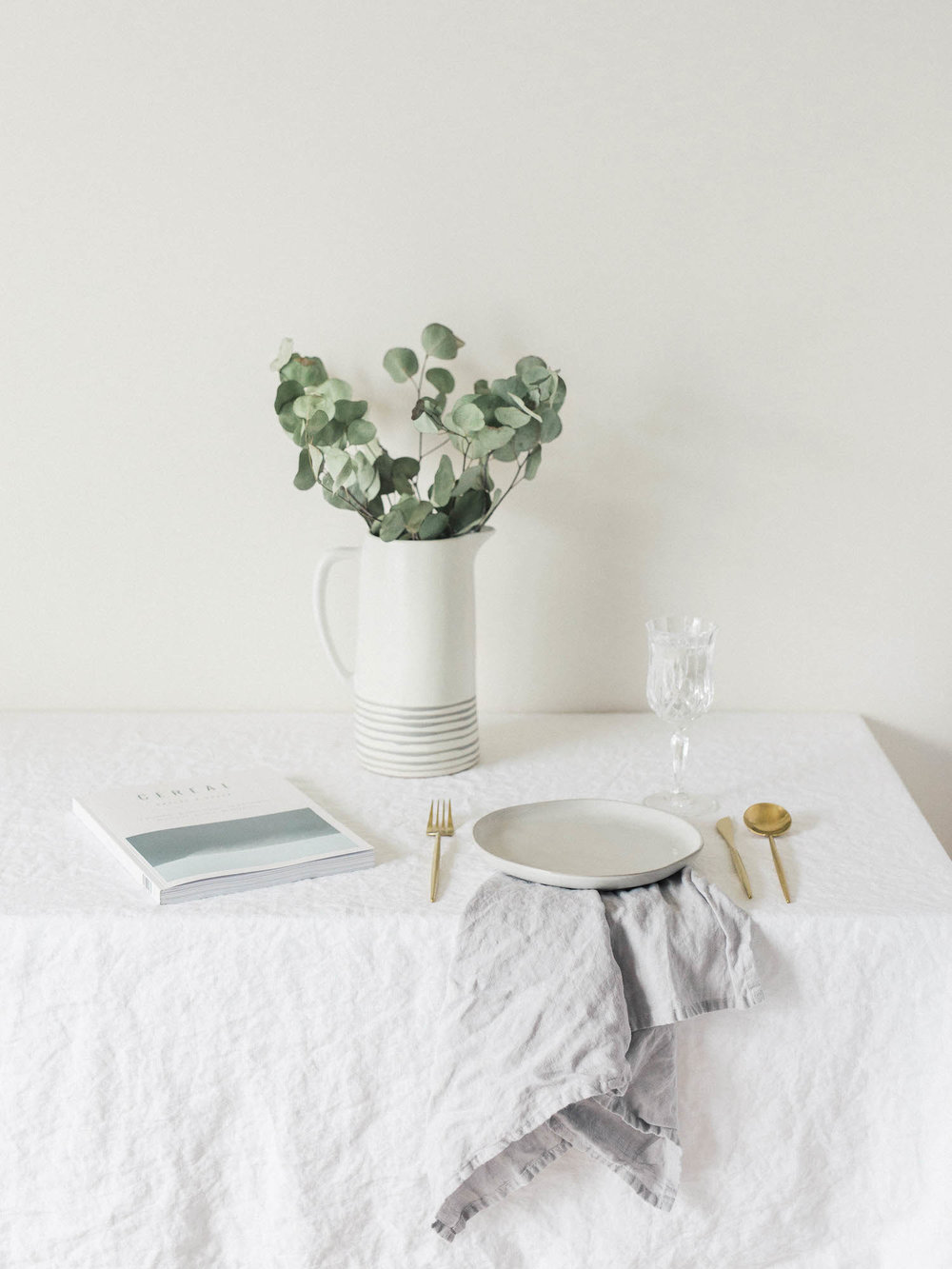 Magic Linen Tablecloth - Food Photographers - NYC Cookbook Photographer - Tablescape - Cereal Magazine