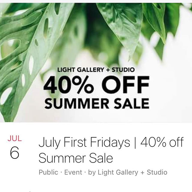 Light Gallery is having a plant themed summer sale! This one day only sale offers up to 40% off on plant themed items during this First Friday only! Light Gallery is on the 300 block of South Division. Stop in as you make your way down the Avenue to see what's in store!
