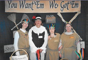 Jamestown Business Showcase - The chamber hosts a business showcase where companies can display what they do. For the event held the same year Jamestown became 400 years old, we were there. Yes, complete with Indian costumes and Capt. John Smith attire, we advertised that if you want 'em, we got 'em. After all, we were staffing since Pocahontas came to town.