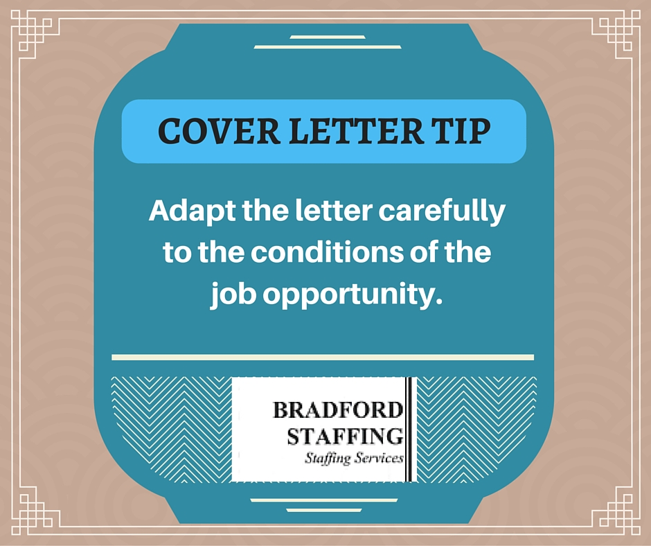 Bradford Staffing Helps You Write Cover Letters For Success