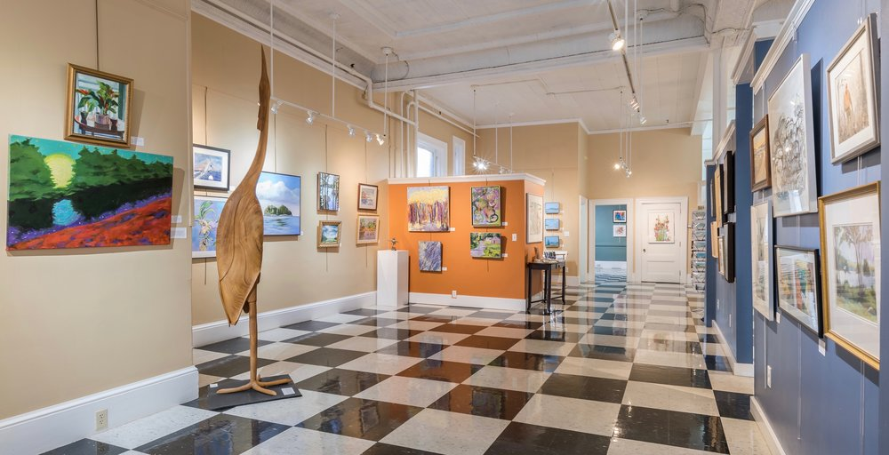 With over 800 feet of floor space at the Centre St. Arts Gallery, member artists can display at least 5 or 6 paintings for each show.