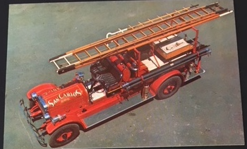 Postcards - Fire Engine  –– $1.50