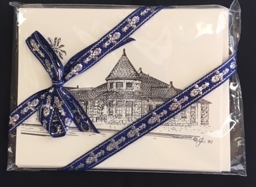 Note Cards Train Depot –– $5