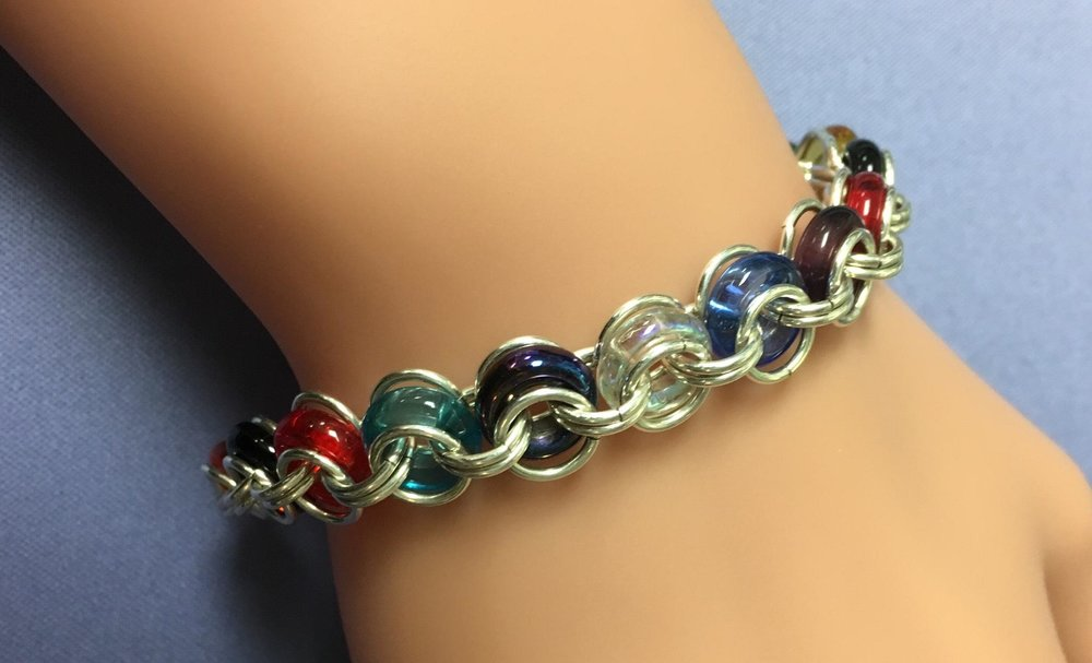 """""""Bicycle Chain"""" Chain Maille Bracelet"""