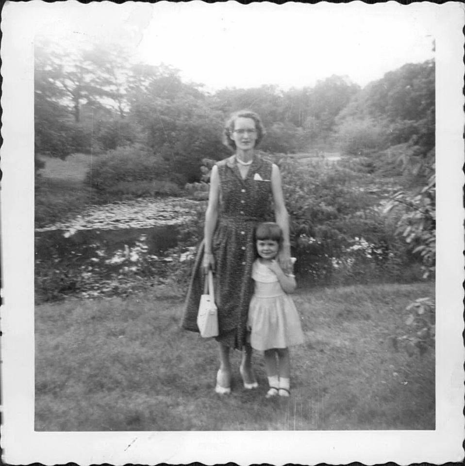 Mom and Nana, circa 1957