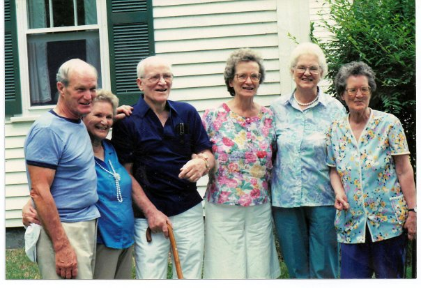 Nana (on the right) and five of her siblings