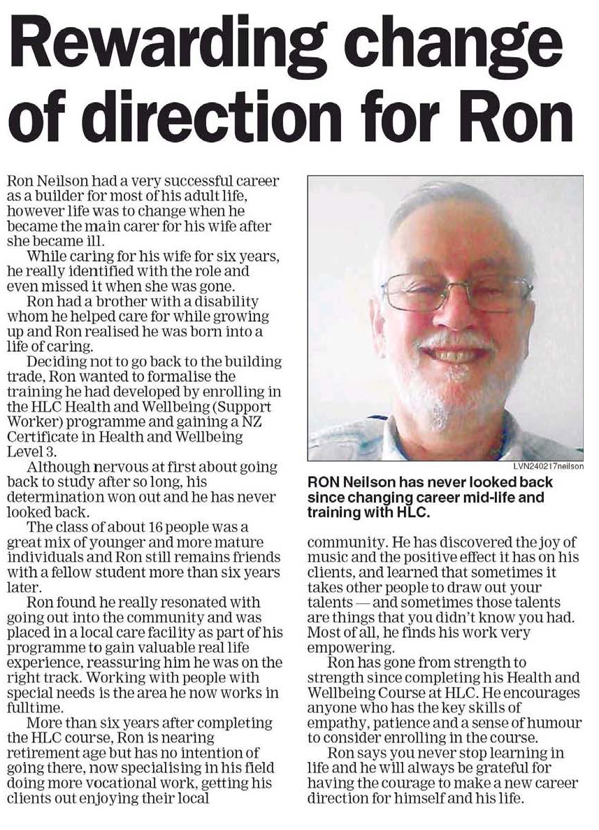 Rewarding change of direction for Ron