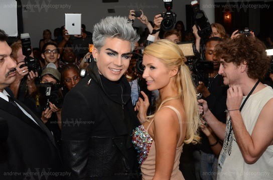 THE VILLAGE VOICE - Adam Lambert and Paris Hilton at the Blonds Show