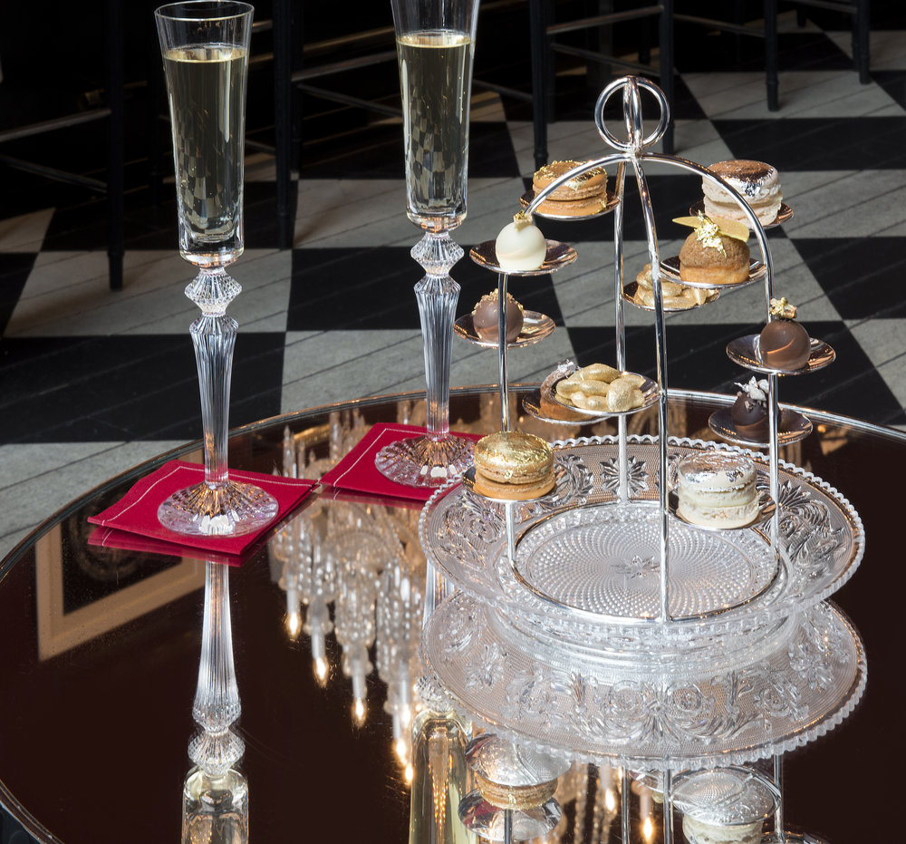 Bacccarat Hotel Silver and Gold Dessert - photo by Andrew Werner.jpg