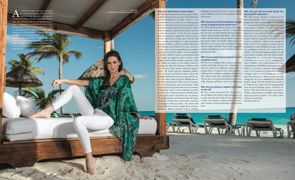 Escaple To Cancun - photographed by Andrew Werner for Resident Magazine May 2017, pages 3&4.png
