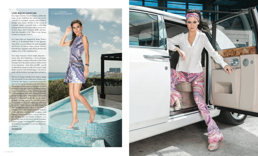 Escaple To Cancun - photographed by Andrew Werner for Resident Magazine May 2017, pages 11&12.png
