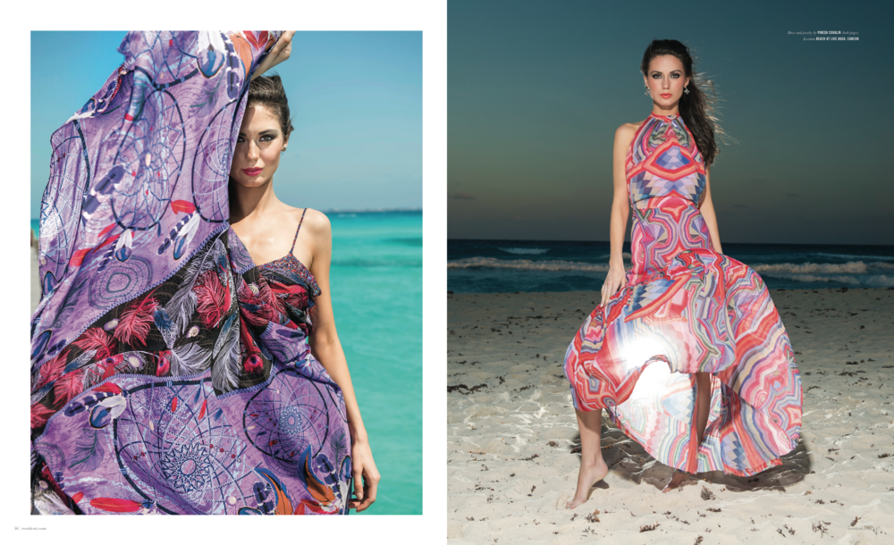 Escaple To Cancun - photographed by Andrew Werner for Resident Magazine May 2017, pages 13&14.png