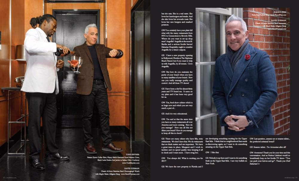 Geoffrey Zakarian by photographer Andrew Werner for Resident Magazine - spread pages 5 & 6.png