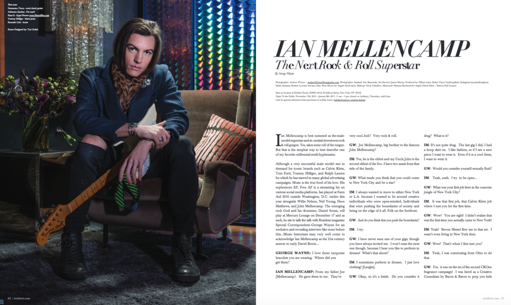 Ian Mellencamp in Resident Magazine by photographer Andrew Werner 1.png