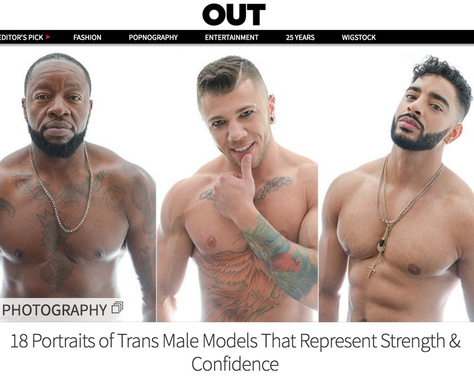 OUT Magazine - 18 Portraits of Trans Male Models That RepresentStrength & Confidence