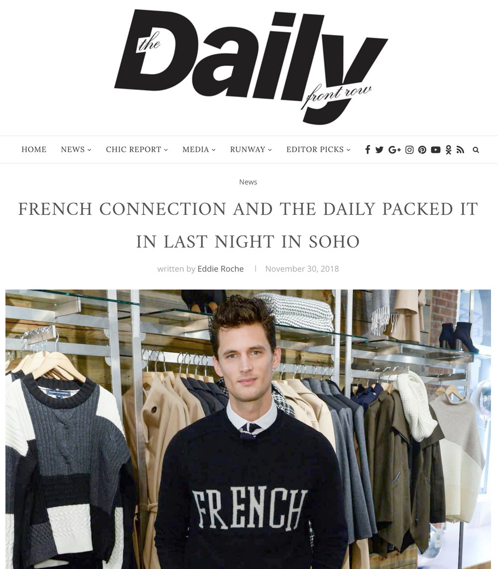 DAILY FRONT ROW - DAILY FRONT ROW X FRENCH CONNECTION HOLIDAY PARTY