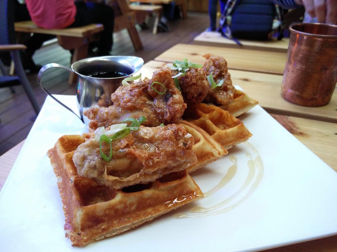 Upper Deck's Chicken & Waffles