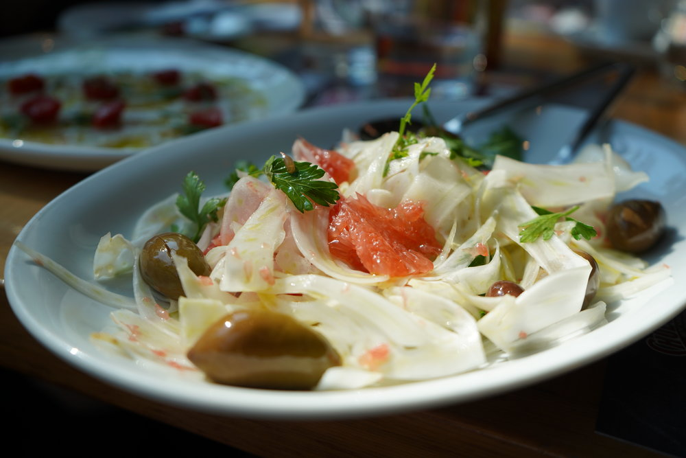 Fennel and Grapefruit with Chili and Olives
