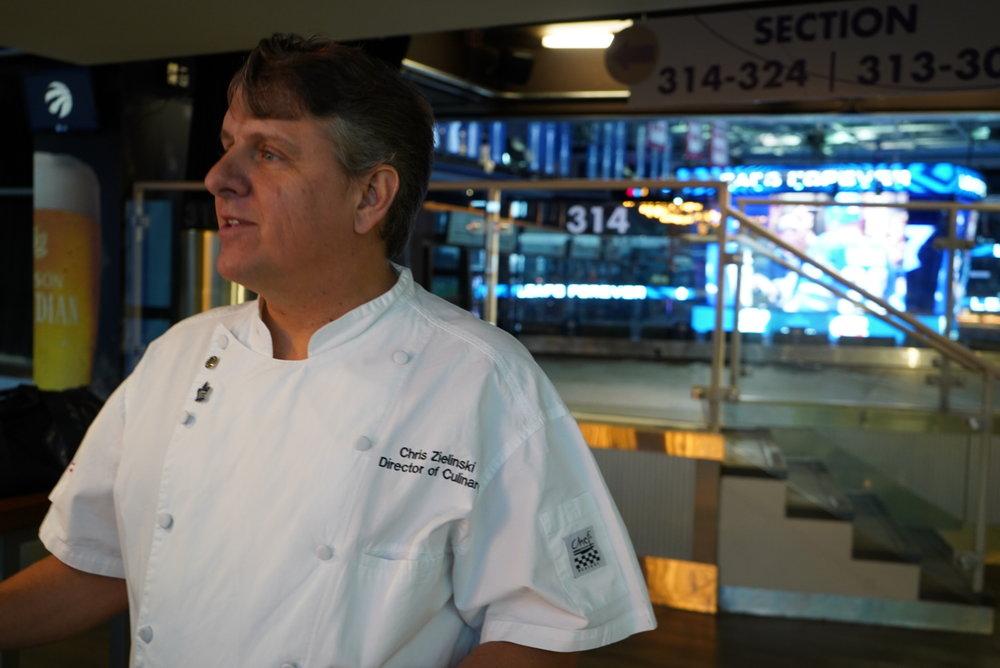 MLSE's Culinary Director, Chef Chris Zielinski