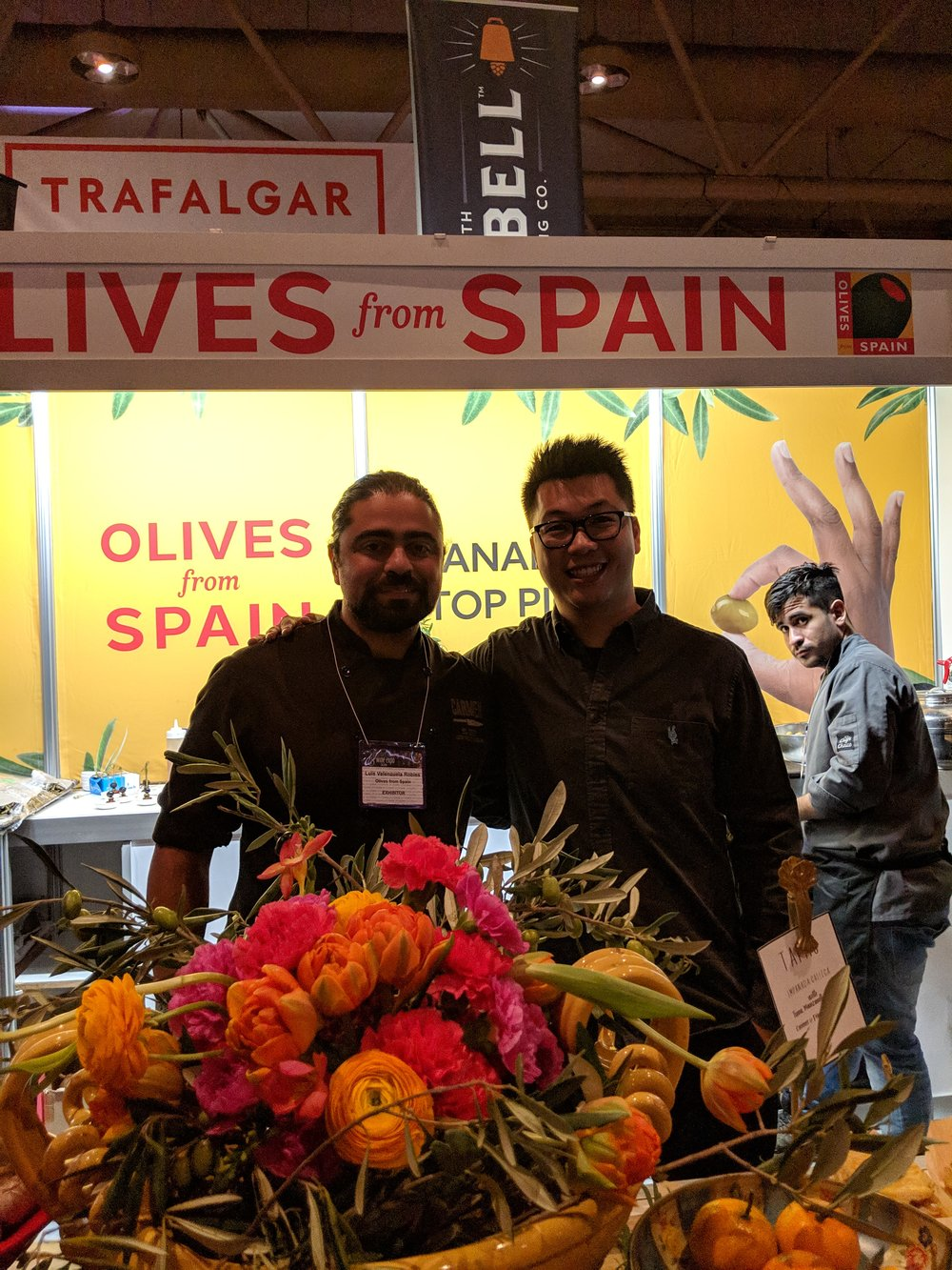 chef luis valanzuela hubert leung good food toronto olives from spain