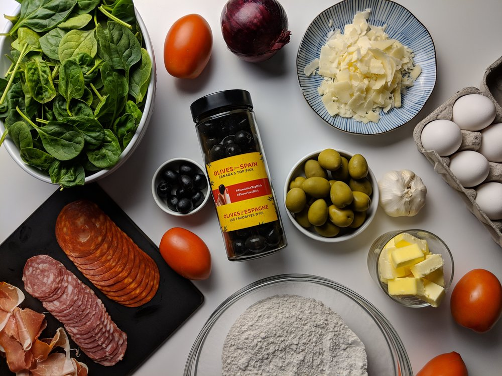 savoury olive breakfast tart ingredients canada spain