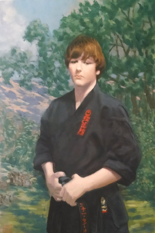 "Sample Portrait Life Size  - Konnor Lyons 48"" x 34"" Oil on Masonite Panel"