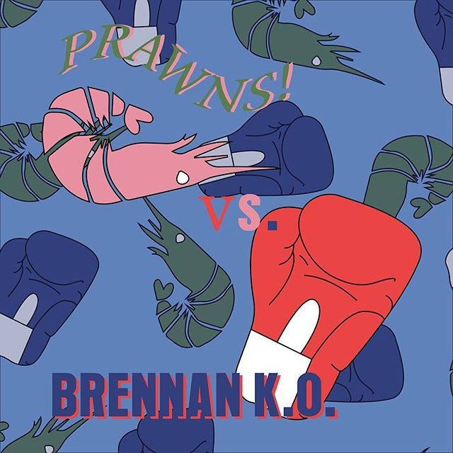 It's @prawns_sf vs. @brennan_ko tonight at our favorite east bay record store @herculesrecords ~ 7-10p / byob