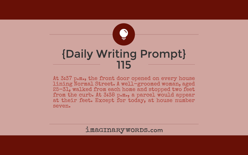 daily writing prompt 115 imaginary words author marnie lyn adams