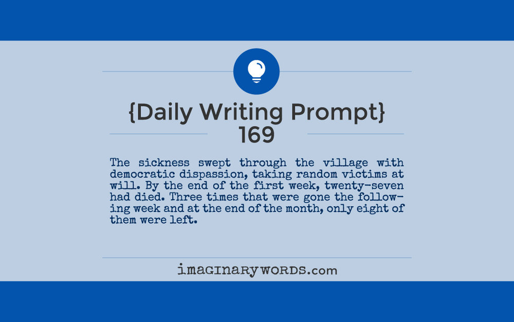 daily writing prompt 169 imaginary words author marnie lyn adams