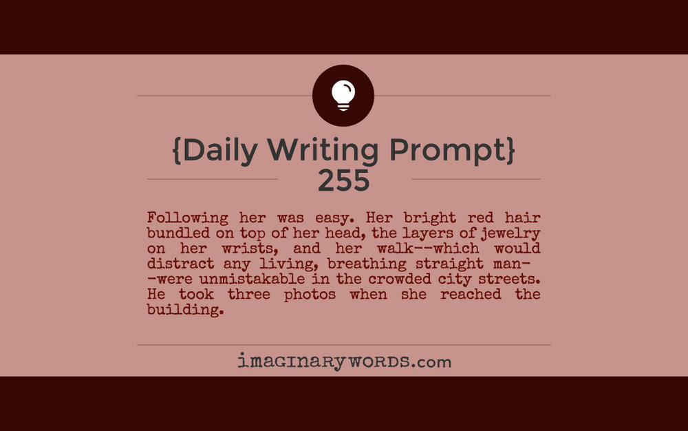 daily writing prompt 255 imaginary words author marnie lyn adams