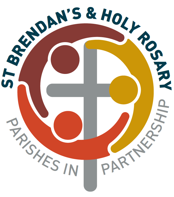 Unity and new beginning… - The new 'Parishes in Partnership' logo symbolises unity and new beginning between the St Brendan's and Holy Rosary Parishes. Three linking outstretched arms of the figures form an encompassing circle – without beginning or end, while focussing on their central Christian faith. The colours chosen reflect Australia's indigenous heritage while representing the parishes community and outstretched support for all, including those from different cultural backgrounds and nationalities, uniting as one in the presence of God.Nancy Cover